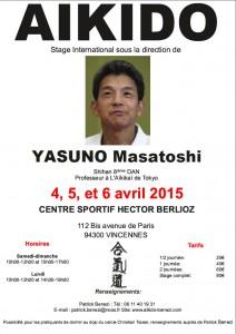 stage Yasuno Sensei Paris 2015