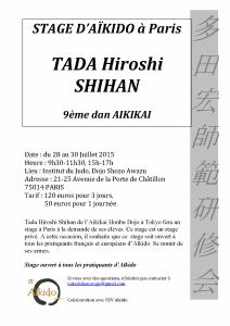 STAGE D'AÏKIDO TADA HIROSHI