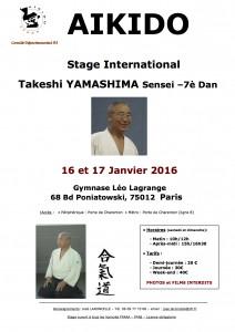 16.01.2016 | Stage dirigé par Takeshi Yamashima