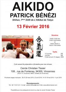 13.02.2016 | Stage dirigé par Patrick Bénézi