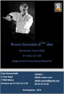 03.04.2016 | Stage dirigé par Bruno Gonzalez