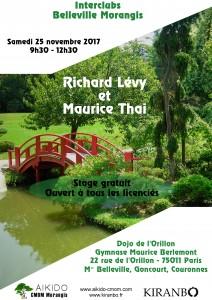 25.11.2017 | Stage dirigé par Richard Levy et Maurice Thai