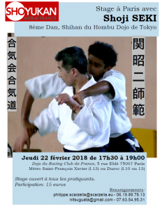 22.02.2018 | Stage dirigé Shoji Seki