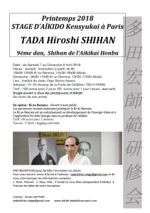 07.04.2018 | Stage dirigé par Hiroshi Tada