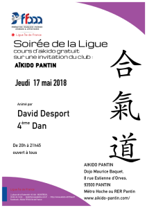 17.05.2018 | Stage dirigé par David Desport