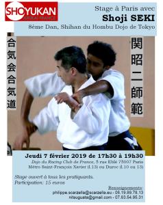 07.02.2019 | Stage dirigé par Shoji Seki