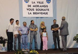 22.06.2007 | Sélection 2007 pour la remise des récompenses du CMOM : 1er Kyu pour Pamela et Marc Angelosanto (ado !), la petite Célia pour son sérieux, Pamela et Marc pour